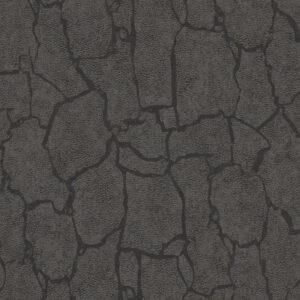 Wallpaper giraffe print design col. black/grey